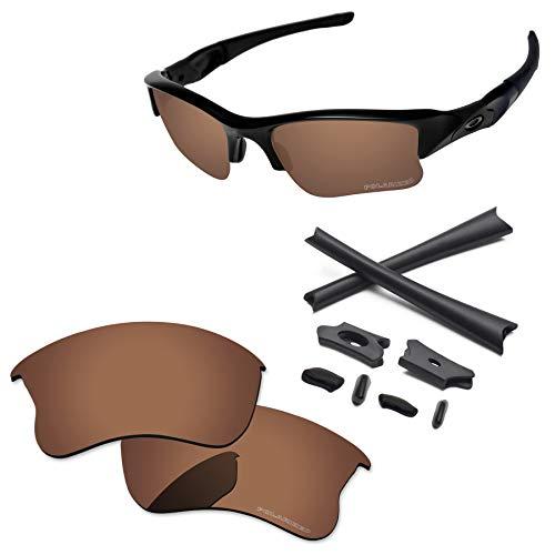 - PapaViva Lenses Replacement & Rubber Kits for Oakley Flak Jacket XLJ Copper Brown - Polarized