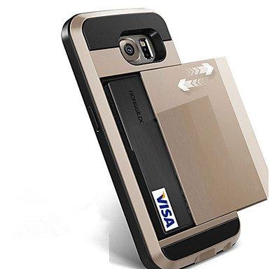 Casos hermosos, cubiertas, Para la galaxia s8 de samsung más la caja del teléfono de s8 resbala la cubierta de la carpeta de la ranura de la tarjeta de crédito para ( Color : Azul claro , Modelos Comp Gris