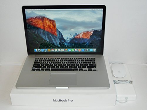 Apple MacBook Pro 15-Inch Retina Laptop Quad i7 2.6GHz - 3.8GHz / 16GB DDR3 Ram / 1000GB PCIe Flash SSD / Gefoce GT 750M 2GB Graphics / OS X High Sierra / USB 3.0 / HDMI / Magic-Mouse