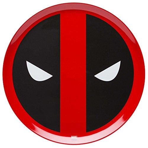 Zak Designs Deadpool 10in Durable Melamine Plate, Deadpool -