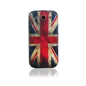 bandera británica Copertura posteriore della batteria Cubierta de la caja plástica dura de Shell protector para Samsung Galaxy S3 SIII i9300 with CableCenter Cable Tie