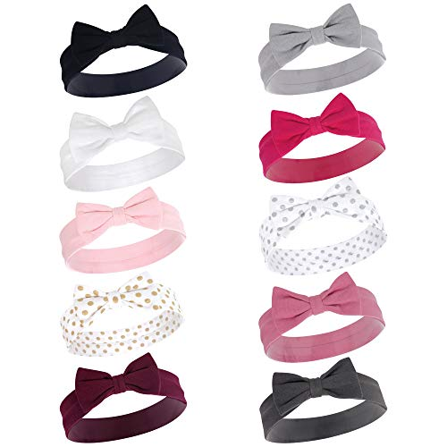 - Hudson Baby Baby Girls' Cotton Headbands, Classic Bow 10 Pk, 0-24 Months