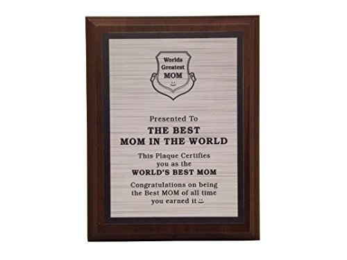 aahs!! Engraving Worlds Greatest Plaques (The Best Mom in The World, Silver)