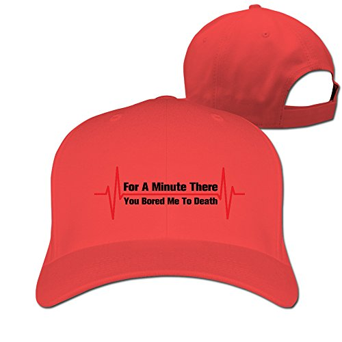 Yesher Vintage For A Minute There You Bored Me To Death Baseball Cap - Adjustable Hat - Red