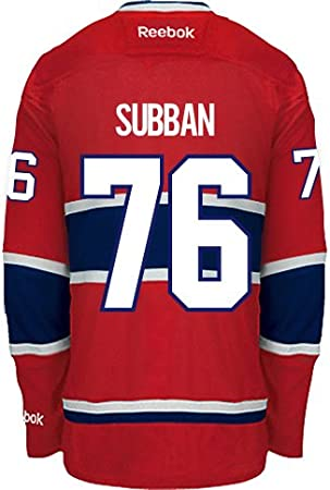 Montreal Canadiens P.K. SUBBAN  76 Official Home Reebok NHL Hockey Jersey ( SEWN TACKLE TWILL 61a2b6484
