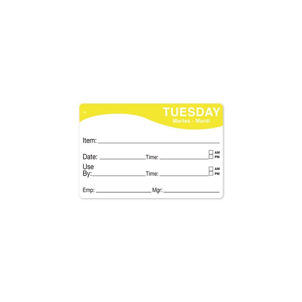 DayMark 1124672 ReMark 2 x 3 Tuesday Day Label - 500 / RL