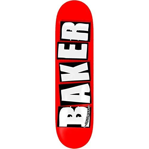 障害ロケット非常に怒っていますベイカースケートボードブランドロゴレッド/ホワイトスケートボードDeck – 8.25