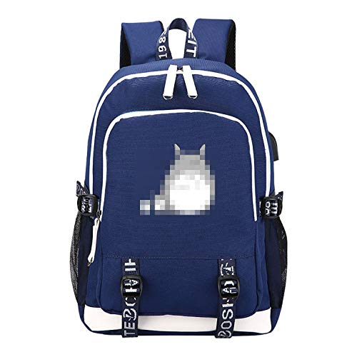Price comparison product image Backpack USB Charging Laptop Backpack Canvas Kawaii School Bags for Girls Travel Backpack, 8