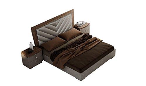 Napa Bedroom - J&M Furniture Napa Modern Queen Bedroom Set in Light Grey & Walnut, 5-Piece