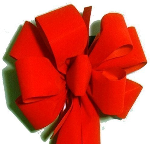 free-shipping-12-pack-750-each-handmade-red-velvet-christmas-bows-10-wide-20-long-tails-weatherproof