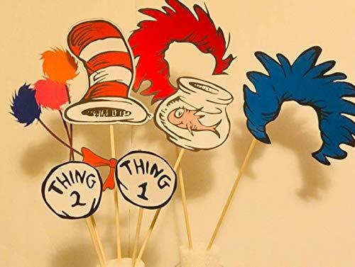 (Dr Seuss Cat in the Hat Centerpieces/Dr Seuss theme/Cat in the hat party/Cat in the Hat Party Supplies/Dr Seuss Inspired)