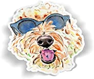 Golden Doodle Vinyl Sticker, Goldendoodle Decal, Water Bottle Stickers, Watercolor Tumbler Sticker, Cute Dog L