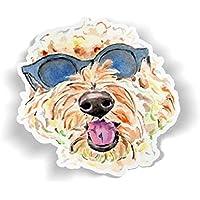 Golden Doodle Vinyl Sticker, Goldendoodle Decal, Water Bottle Stickers, Watercolor Tumbler Sticker, Cute Dog Laptop Stickers, Dog Phone Sticker