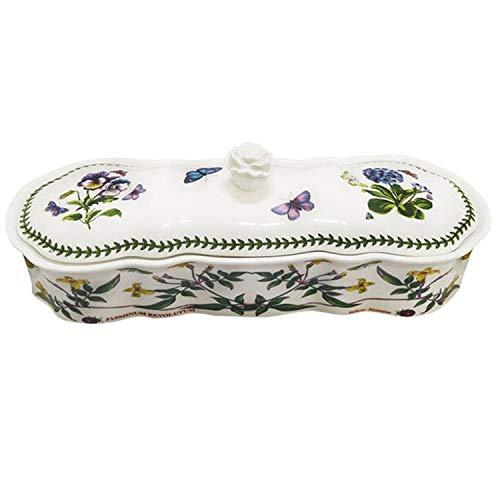 Portmeirion Botanic Garden Ceramic Cutlery Holder Flatware Caddy Tableware Tabletop Holder with Lid, Rose