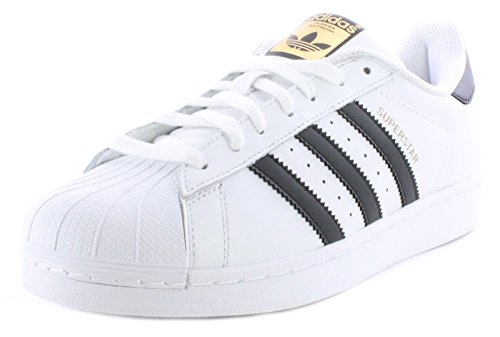 adidas Originals Men's Superstar Casual Sneaker, White/Core Black/White, 9 M US ()