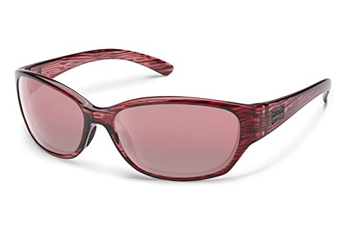 Suncloud Duet Sunglasses, Rose Stripe Frame/Rose Polycarbonate Lens, One Size -
