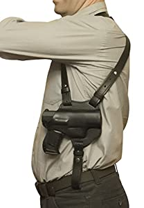 VlaMiTex S1 Shoulder Holster Leather Glock 17 19 22 23 25 31 32 Black