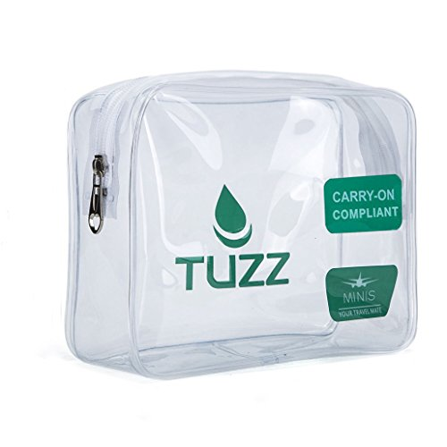 TUZZ TSA Approved Clear Travel Toiletry Bag Quart Bags With Zipper For Men Women, Airline 3-1-1 Carry On Compliant Bag Tsa Quart Bag