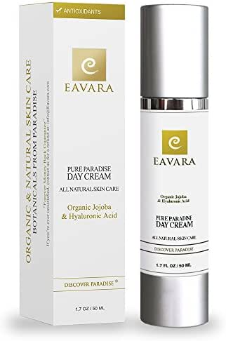 Organic Daily Facial Moisturizer Day Cream with Collagen Peptides and Hyaluronic Acid Anti Aging Moisturizing Face Lotion For Women And Men Paraben Free for Anti Wrinkle Skin with Shea and Jojoba