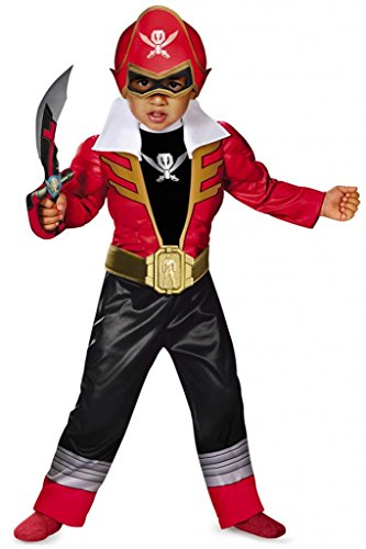 [Disguise  Toddler Super MegaForce Power Rangers Light-Up Costume, Large/4-6] (Power Ranger Samurai Costumes)