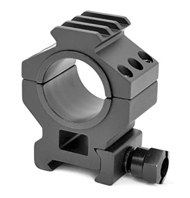 """TMS HEAVY DUTY TACTICAL Medium SCOPE RING SET 30MM 1"""" PICATINNY WITH ACCESSORY RAIL TOPS"""