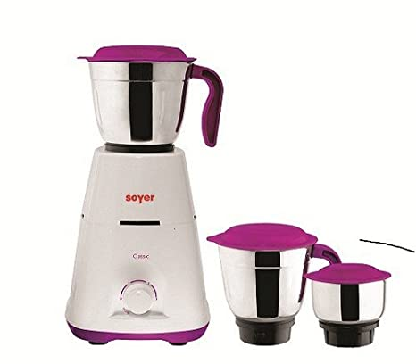 Soyer MG550 550-Watt Mixer Grinder with 3 Jars (Purple/White)