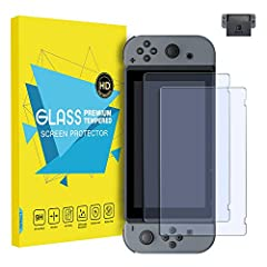 Tempered Glass Screen Protector  Premium tempered glass film, precise fit for Nintendo Switch. Touch Screen Clarity and Sensitivity  With 99.9% transparency, our screen protector promises an optimal and natural viewing experience. 0.25mm thic...