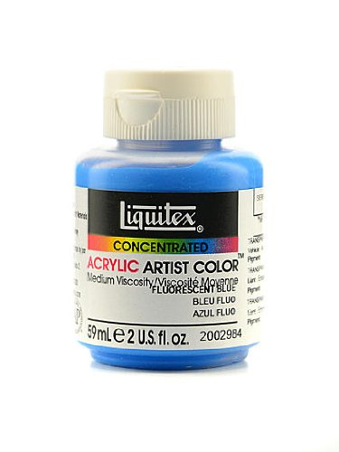 Liquitex Soft Body Professional Artist Acrylic Colors fluorescent blue 2 oz. [PACK OF 2 ]