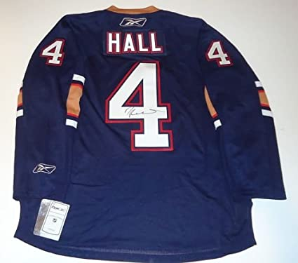 702fc04fd Image Unavailable. Image not available for. Color  Taylor Hall Signed  Edmonton  Oilers  Hockey Jersey ...