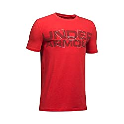 Under Armour Boys' Duo Armour T-shirt,red (600)steel, Youth Large
