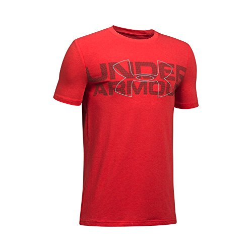 Under Armour Boys' Duo Armour T-Shirt,Red (600)/Steel, Youth Large