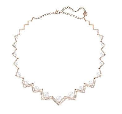 Swarovski Women Necklace Edify All Around Crystal White Pearl Necklace 40cm 5196684 XAqcw