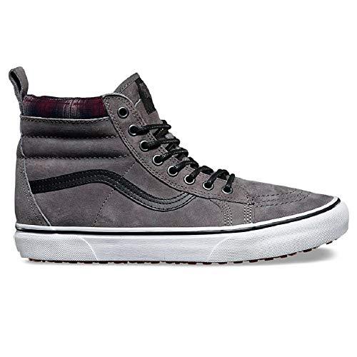 Vans SK8 Hi MTE Pewter/Plaid/True White Men's Classic Skate Shoes Size 13 -