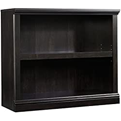 Sauder 414237 Select 2-Shelf Bookcase, Estate Black Finish
