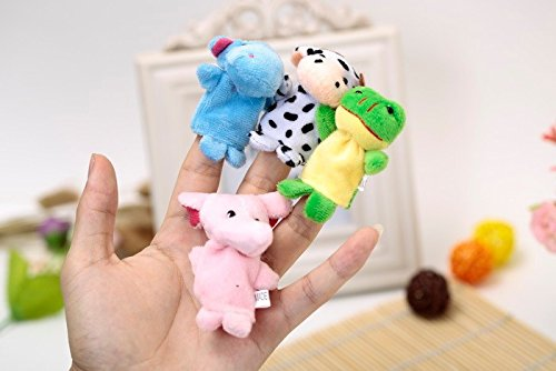 Kuhu Creations® Supreme 4 Pcs  Random  Animal Puppets Baby Story Telling Finger Puppets.