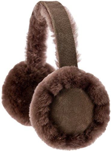 Snugrugs Ladies Full Sheepskin Ear Muffs with Gift Box, Mink