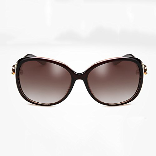 NUBAO Sunglasses Female Round Face Big Box Comfortable Polarized Glasses Long Face Elegant Sunglasses Square Face Outdoor Travel Beach Break Essential (Color : Brown) (Was Sonnenbrille)