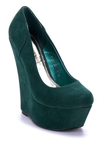 Schuhtempel24 Damen Schuhe Keilpumps Pumps 15 cm High Heels