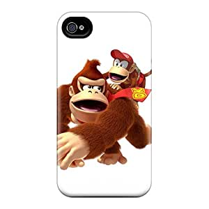 TrevorBahri Apple Iphone 4/4s Protective Hard Phone Cases Provide Private Custom Lifelike Donkey Kong Series [MKl1249FmOV]