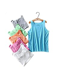Kids Cotton Tank Top Undershirts 5 Pcs Children's Cotton Sleeveless T-Shirts Vest 2-8 Years Baby Underwear Tank Tops Without Trace Modal Boy's and Girl's Clothing for Boys or Girls