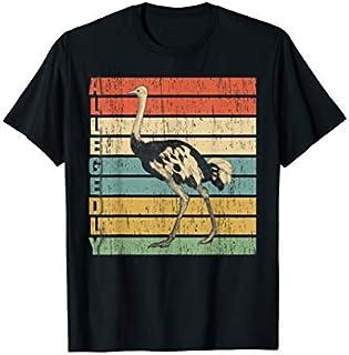 Allegedly Ostrich  Retro Flightless Bird Lover T-shirt | Size S - 5XL