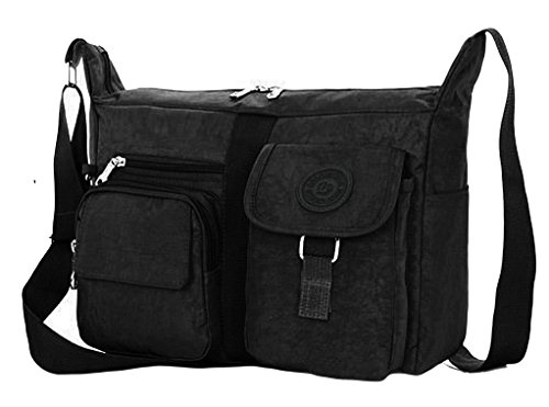 Black Hand Shoulder Gfm Strong Handle Bag Durable amp; Women's Top kl0 Fabric Nylon OZzRPO