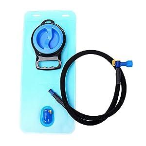 Hydration Bladder 70 oz / 2 Liter - Suitable for All kinds of Hydration Pack - Water Storage Bladder Bag - Water Reservoir Pack for 2L Hydration Backpack System (Blue, Blue 70 oz)