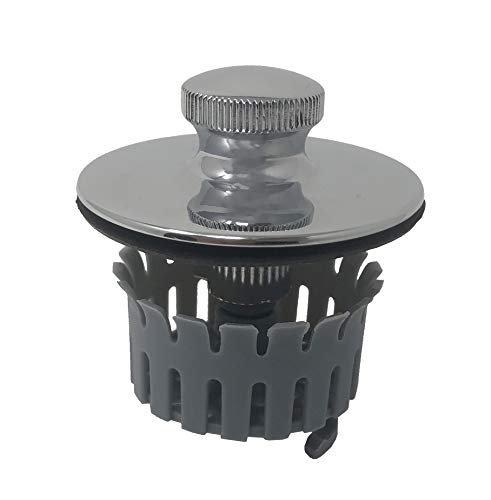 Install Basket Strainer - Drain Buddy Bathtub Drain Stopper with Hair Catcher Basket | Fits 1.5