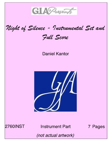 Night of Silence - Instrumental Set and Full Score - Daniel (Silence Sheet Set)