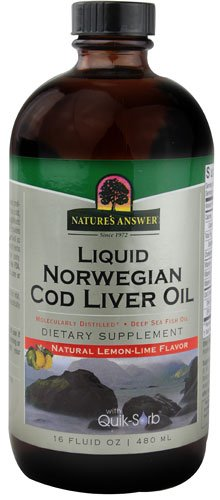 Nature's Answer Liquid Norwegian Cod Liver Oil Natural Lemon Lime -- 16 fl oz - 3PC by Nature's Answer