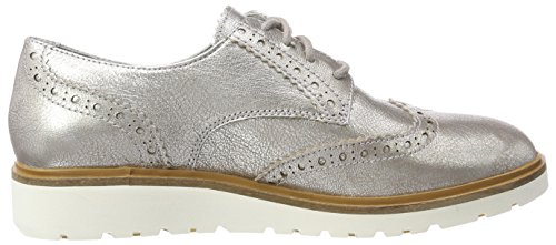 Wing 040 Gris Timberland de Oxford Tip Ellis para Mujer Street Cordones Silver Zapatos f7E7qRvw