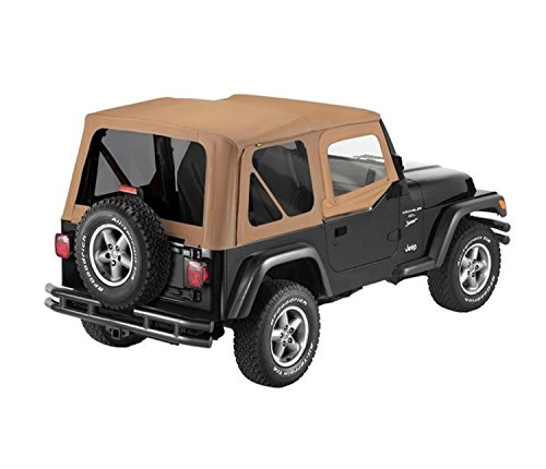Bestop 79124-37 Spice Sailcloth Replace-A-Top Soft Top with Tinted Windows and Upper Door Skins for 1997-2002 Wrangler TJ