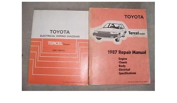 1986 Toyota Tercel Service Repair Shop Manual SET OEM (service manual, and  the electrical wiring diagrams manual.): Toyota: Amazon.com: BooksAmazon.com