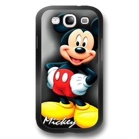 Mickey Mouse Samsung Galaxy S3 Case, Onelee [Never fade] Disney Mickey Mouse Samsung Galaxy S3 Black TPU Case [Scratch proof] [Drop (S3 Cases Mickey Mouse)